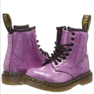 Dr Martens 1460 patent glitter boot -Size 8